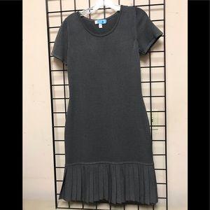 St John Knit dress with bottom ruffle